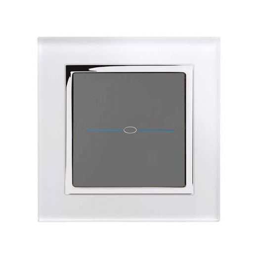 Crystal CT 1G Touch Light Switch White