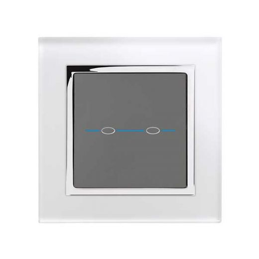 Crystal CT 2G Touch Light Switch White