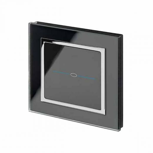 Crystal CT 1G Touch Light Switch Black