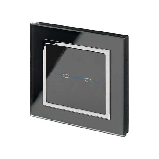 Crystal CT 2G Touch Light Switch Black