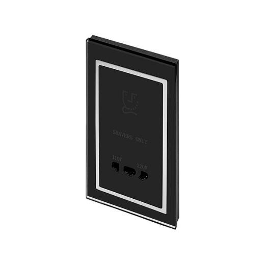 Crystal CT Shaver Socket Black