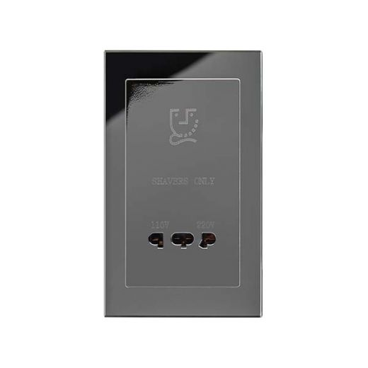 Crystal PG Shaver Socket Black