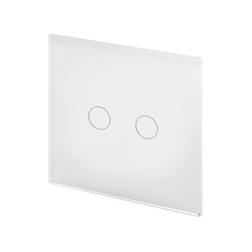 Crystal PG 2G Touch Light Switch White