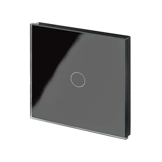 Crystal PG 1G Touch Light Switch Black