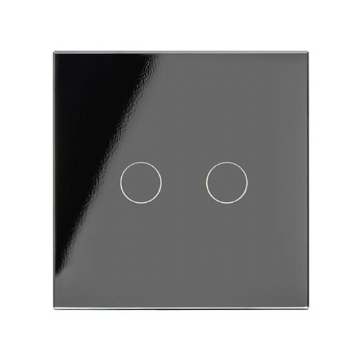 Crystal PG 2G Touch Light Switch Black