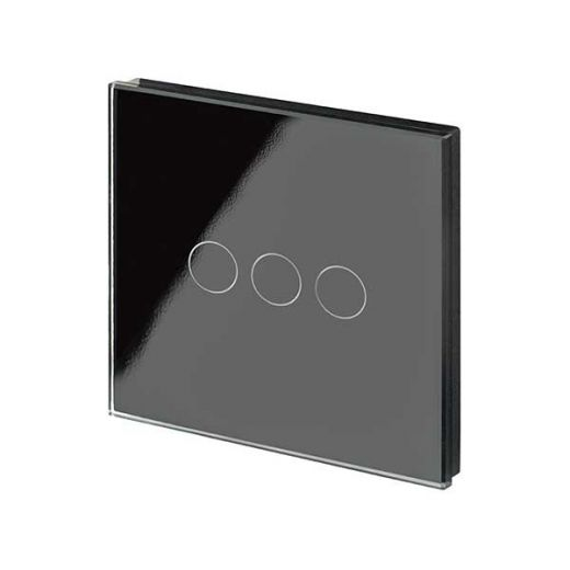 Crystal PG 3G Touch Light Switch Black