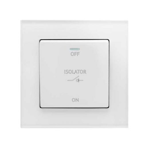 Crystal PG 10A 3-Pole Fan Isolater Switch White