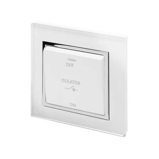 Crystal CT 10A 3-Pole Fan Isolater Switch White