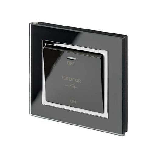 Crystal CT 10A 3-Pole Fan Isolater Switch Black