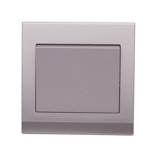 Simplicity Mechanical Light Switch 1G Mid Grey