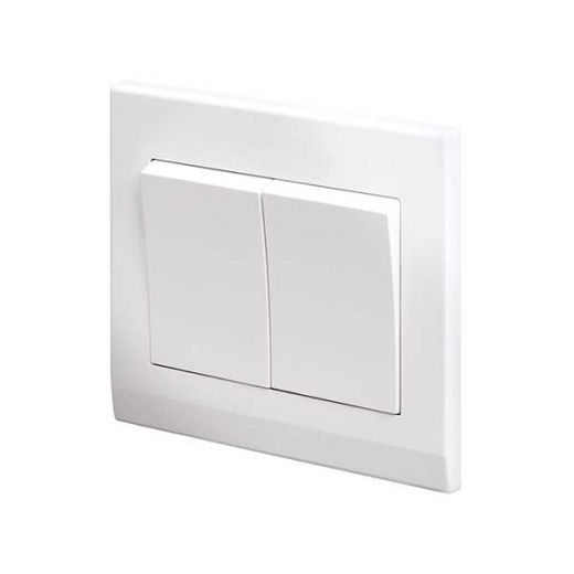 Simplicity Mechanical Light Switch 2G White