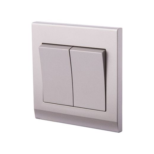 Simplicity Mechanical Light Switch 2G Mid Grey