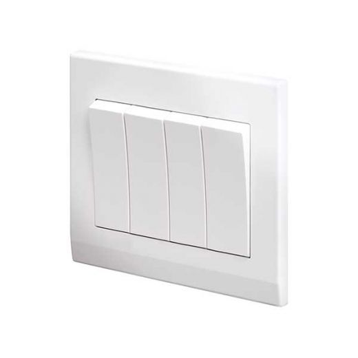 Simplicity Mechanical Light Switch 4G White