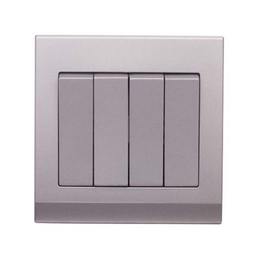Simplicity Mechanical Light Switch 4G Mid Grey