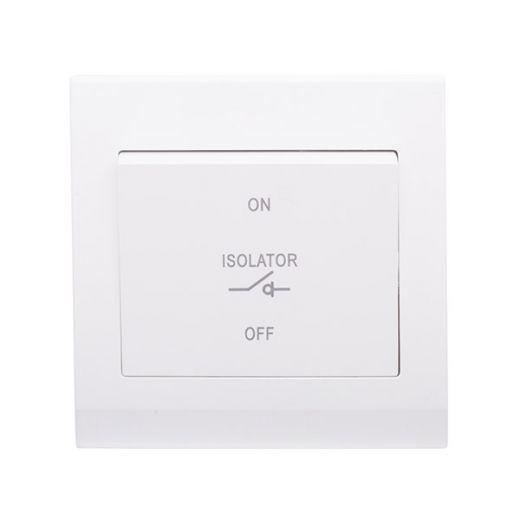 Simplicity 3 Pole Fan Isolator Switch White