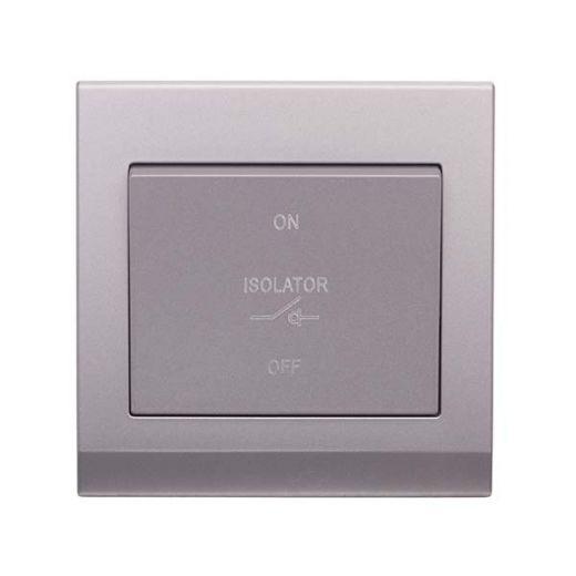 Simplicity 3 Pole Fan Isolator Switch Mid Grey