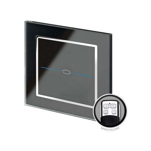 Crystal CT 1G Touch & Remote Light Switch Black