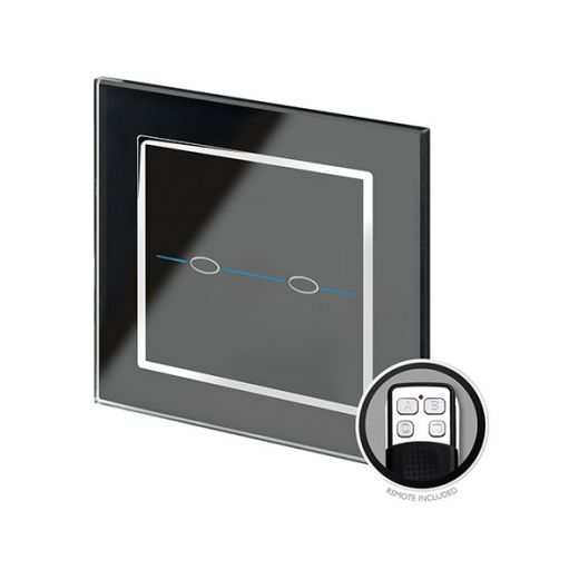 Crystal CT 2G Touch & Remote Light Switch Black