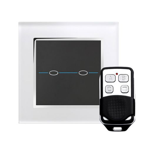 Crystal CT 2G Touch & Remote Light Switch White