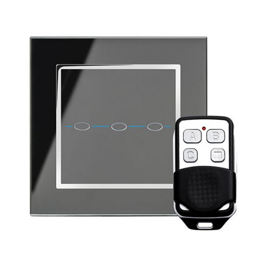 Crystal CT 3G Touch & Remote Light Switch Black