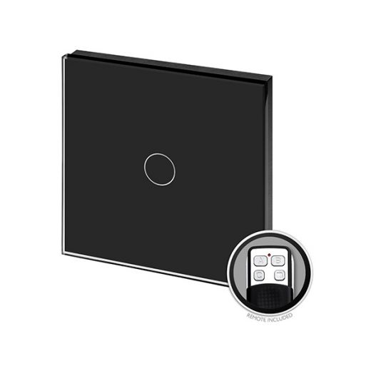 Crystal PG 1G Touch & Remote Light Switch Black