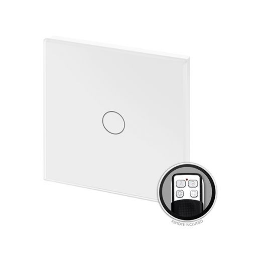 Crystal PG 1G Touch & Remote Light Switch White