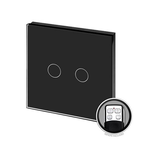 Crystal PG 2G Touch & Remote Light Switch Black