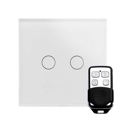 Crystal PG 2G Touch & Remote Light Switch White