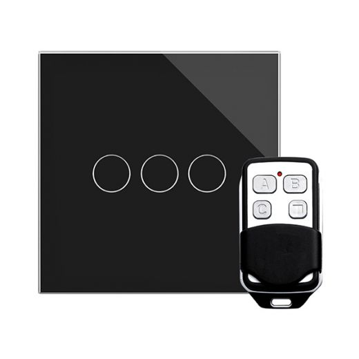 Crystal PG 3G Touch & Remote Light Switch Black