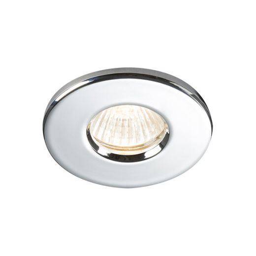 Knightsbridge 230V IP65 GU10 Recessed Downlight Chrome - RDSHC
