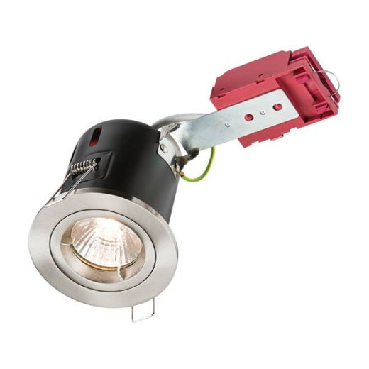 Knightsbridge 230V 50W Fixed GU10 IC Fire-Rated Downlight in Brushed Chrome - VFRDGICCBR