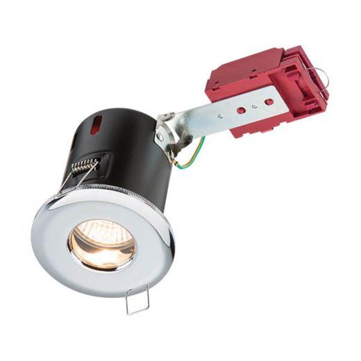 Knightsbridge 230V IP65 GU10 IC Fire-Rated Shower Downlight Chrome - VFRSHGICC