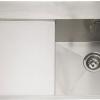 Cubit 100, 1.2mm, Satin Stainless Steel, Single Bowl, Left Handed