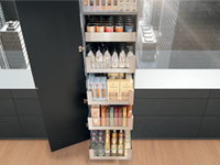 LEGRABOX free SPACE TOWER For Larder Unit, 400mm Wide, 500mm Deep, Stainless Steel