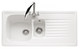 Ashford 150, Ceramic / White, 1.5 Bowl, Universal Handed
