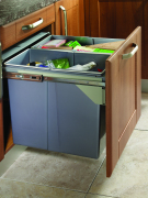 Side Mounted Pull-Out 68 Litre 2 bin Waste Bin