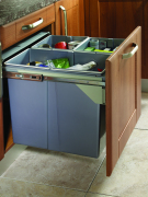 Side Mounted Pull-Out 68 Litre Waste Bin