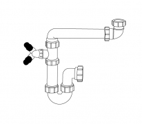 1 bowl plumbing kit, with provision for washing machines & dishwashers