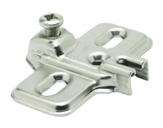 MODUL, Cruciform Mounting Plate, Nickel Plated Pressed Steel, Suitable For 18mm Carcassess, Chipboard Screw Fixing