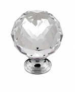 CLARITY, Knob, Chrome / Crystal