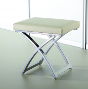 Ivory Stool top faux leather