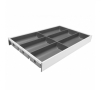 AMBIA-LINE 300mm wide cutlery insert to suit 450mm deep 'M' Height LEGRABOX, Orion Grey