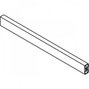 Internal Drawer 'cut to size' gallery rail to suit 'D' height front, 1046mm long, grey