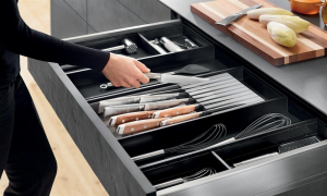 AMBIA-LINE Knife Holder to suit LEGRABOX, Orion Grey