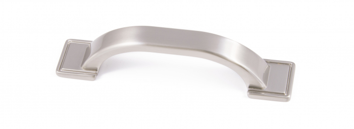 WINDSOR, 'D' Handle, 96mm Centres, Brushed Nickel