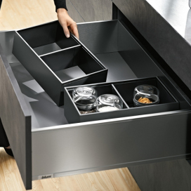 AMBIA-LINE High Fronted Pull-Out Frame to suit LEGRABOX, Orion Grey
