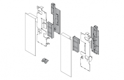 LEGRABOX, Internal Drawer Front Bracket (Pair), 'M' Height, Orion Grey