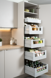 TANDEMBOX antaro SPACE TOWER For Larder Unit, Metallic Grey