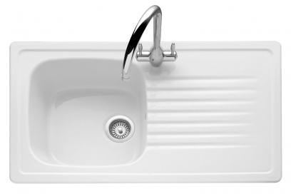 Ashford Ceramic / White, Single Bowl or 1.5 Bowls, Universal Handed