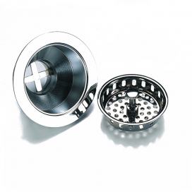 90mm, Chrome Basket Strainer Waste
